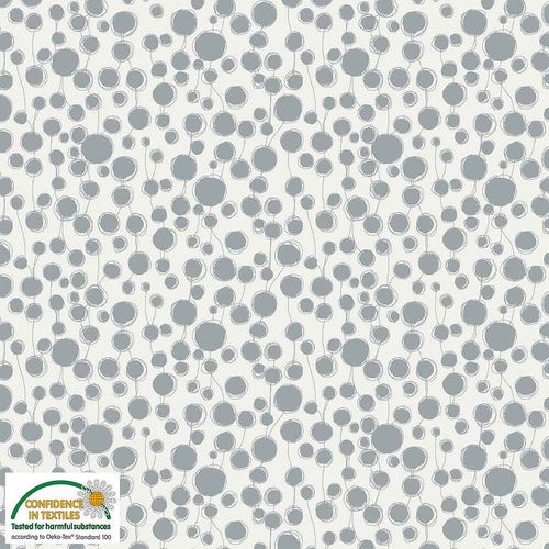 Quilters Combination- Dot Vine in Light Gray