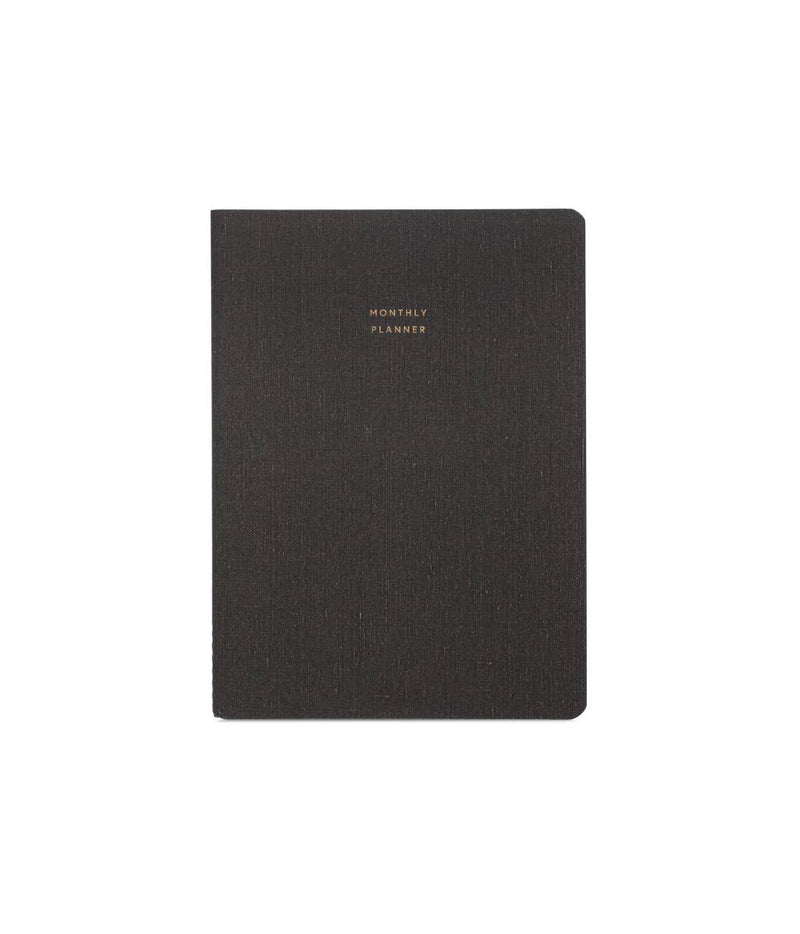Monthly Planner (Blank Undated)- Charcoal Gray