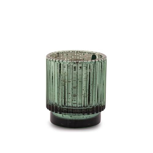 Short Mercury Glass Candle- Cypress & Fir