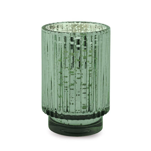 Tall Mercury Glass Candle- Cypress & Fir
