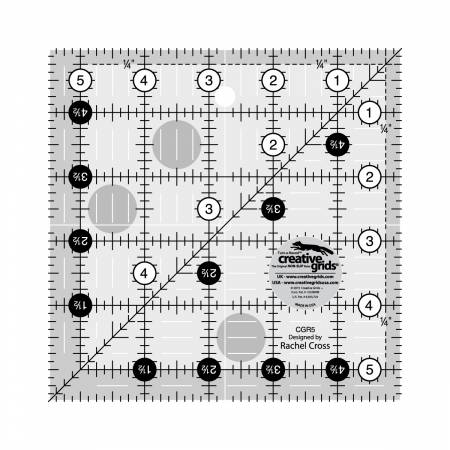 "Non-Slip Ruler - 5-1/2"" Square"