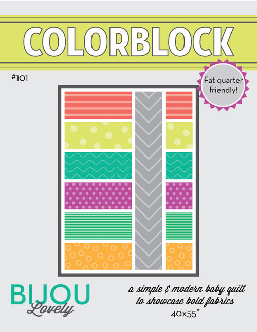 Colorblock Quilt Pattern - PDF