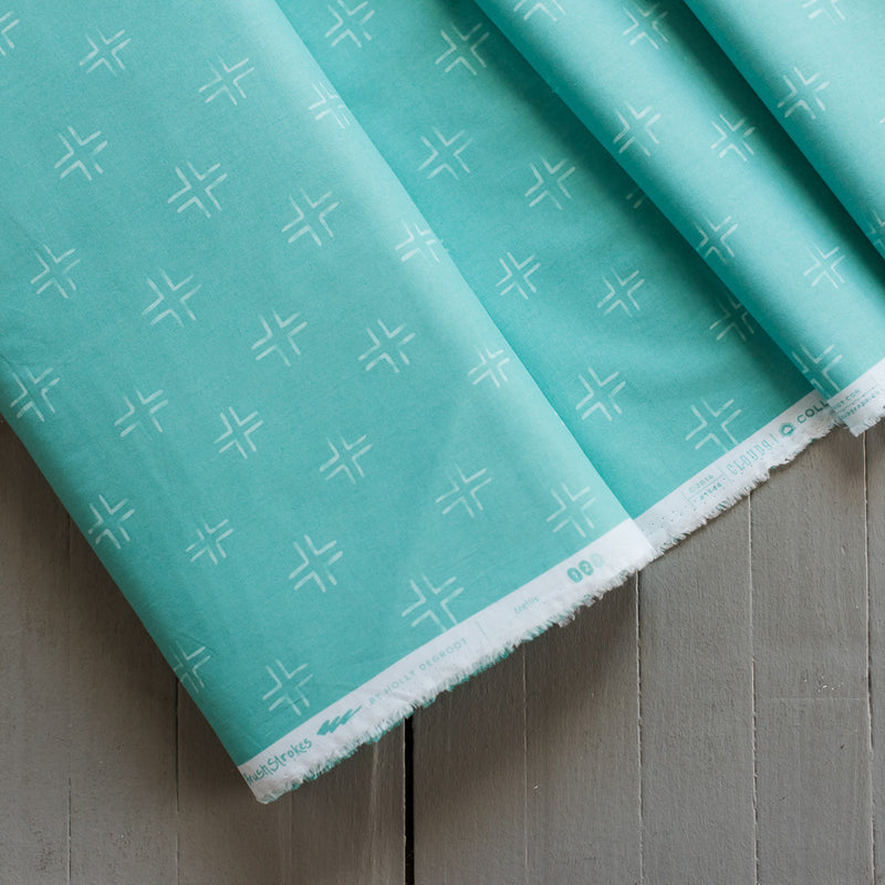 Brush Strokes - Trellis in Turquoise