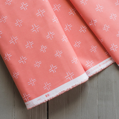 Brush Strokes - Trellis in Coral