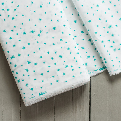 Brush Strokes - Speckled in Turquoise