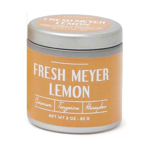 Fresh Meyer Lemon- Tin Candle