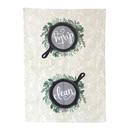 Herb and Skillet Tea Towel