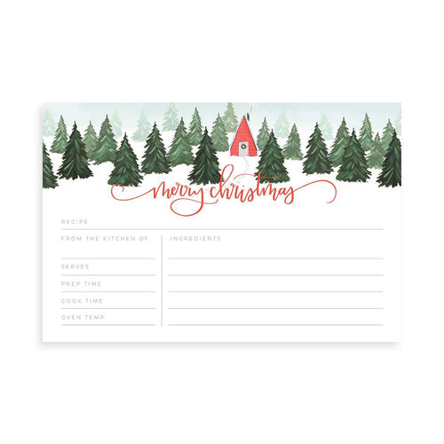 Christmas Cabin Recipe Cards