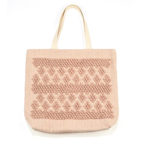 Blush Hand Loom Diamond Tote Bag
