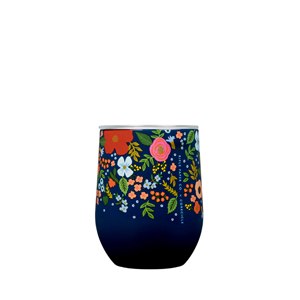 Rifle Paper Stemless - Wild rose in Navy