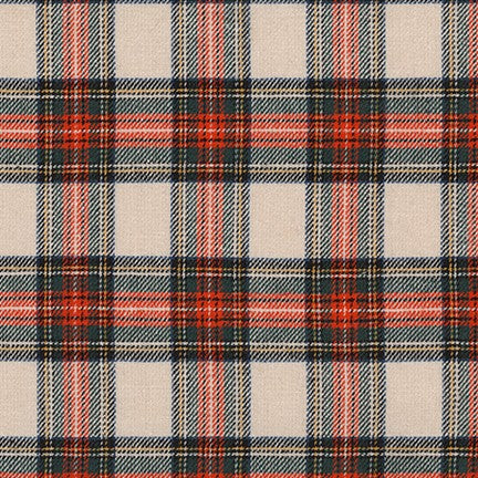 Sevenberry Classic Plaid Twill in Cream