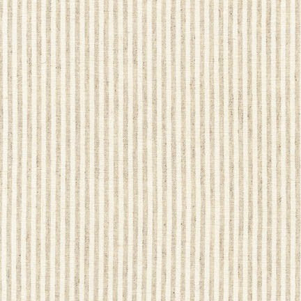 Essex Yarn Dyed Classic Woven Linen - Small Stripe in Natural