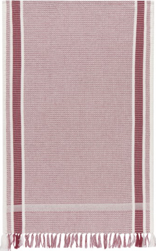 Soft Waffle Heirloom Dishtowel in Wine