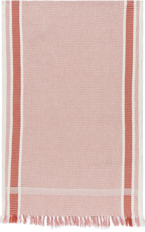 Soft Waffle Heirloom Dishtowel in Clay