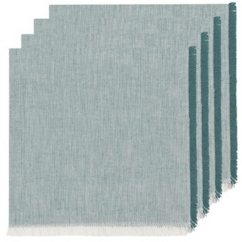 Lagoon Heirloom Chambray napkins - Set of 4