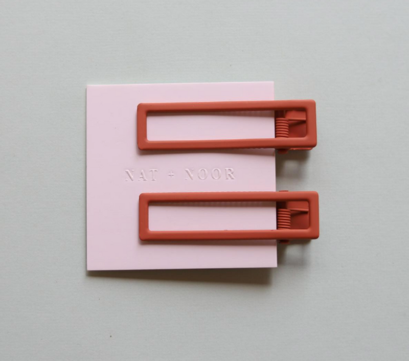 Hair Clip Duo- Lu Lu in Burnt Orange