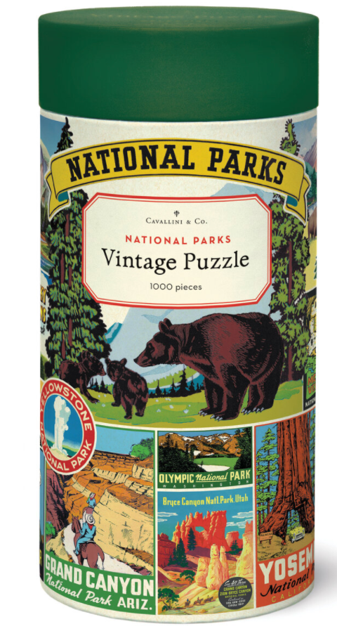 National Parks Vintage Puzzle- 1000 pieces