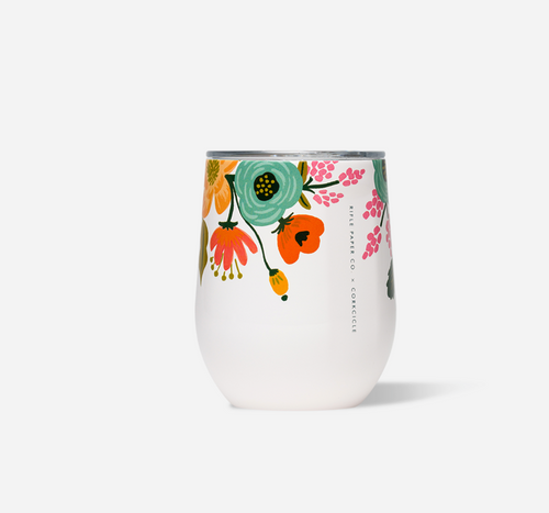Rifle Paper Stemless - Lively Floral Cream