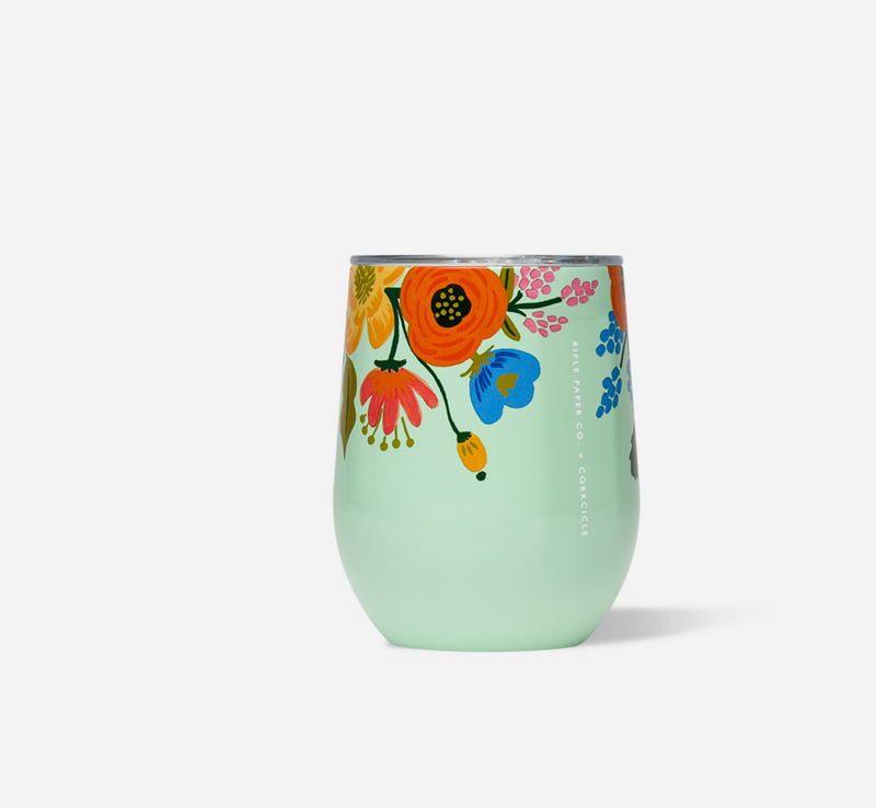 Rifle Paper Stemless- Lively Floral -Mint