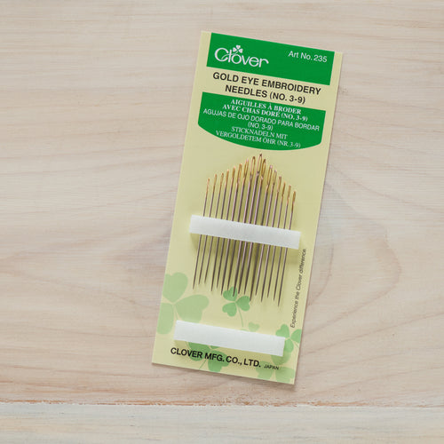 Gold Eye Embroidery Needles - No. 3-9