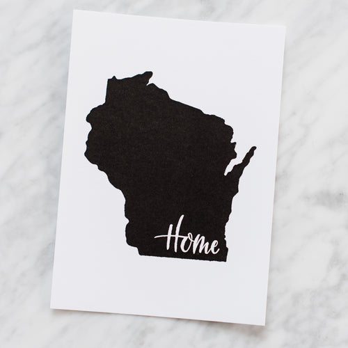 Wisconsin Home Art Print
