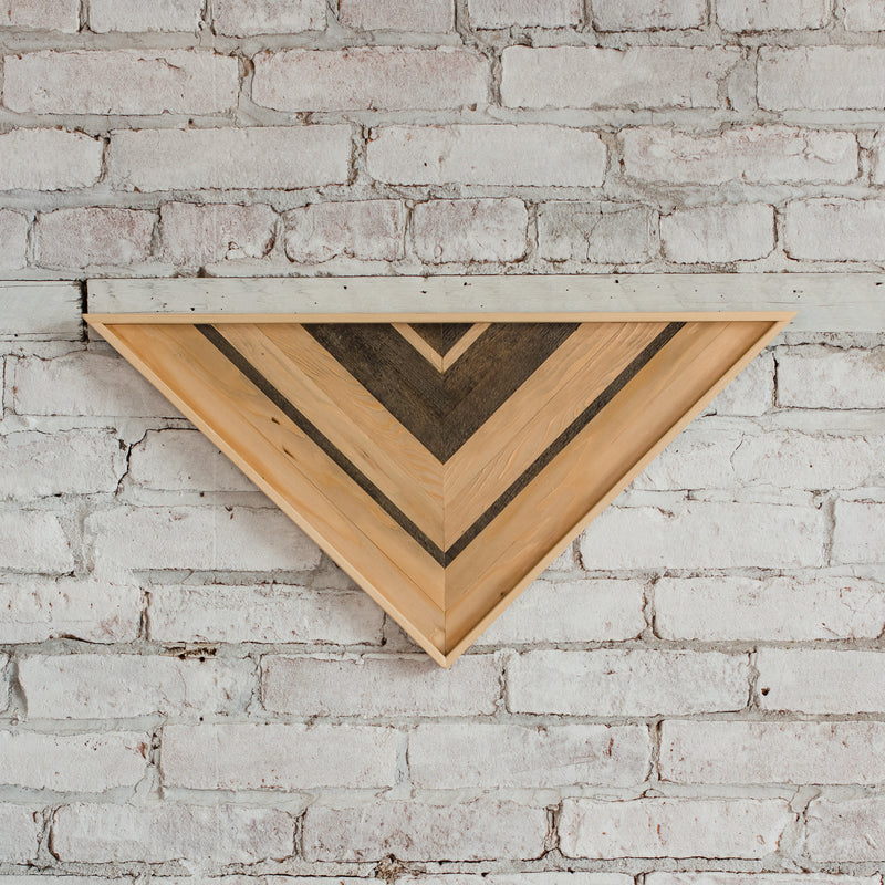 Reclaimed Wood Wall Art - Small Triangle - Natural