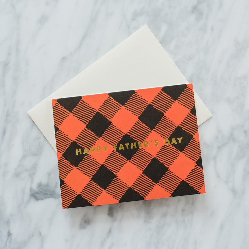 Father's Day Plaid Card