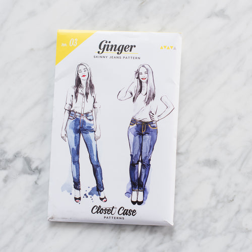 Ginger Skinny Jeans - Printed Pattern