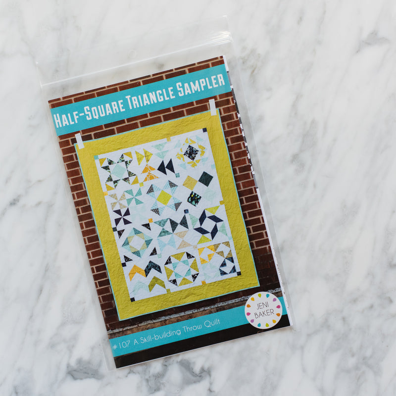 Half-Square Triangle Sampler Quilt - Printed Pattern