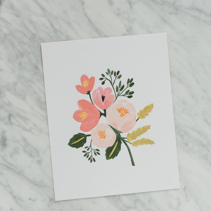 Rose Botanical Art Print - 8x10