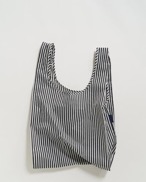 BAGGU Reusable Bag - Standard Size in Black and White Stripe