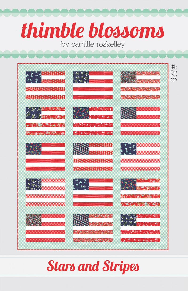 Stars and Stripes Quilt - Printed Pattern