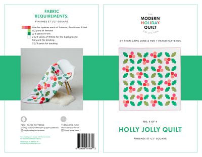 Holly Jolly Quilt - Printed Pattern