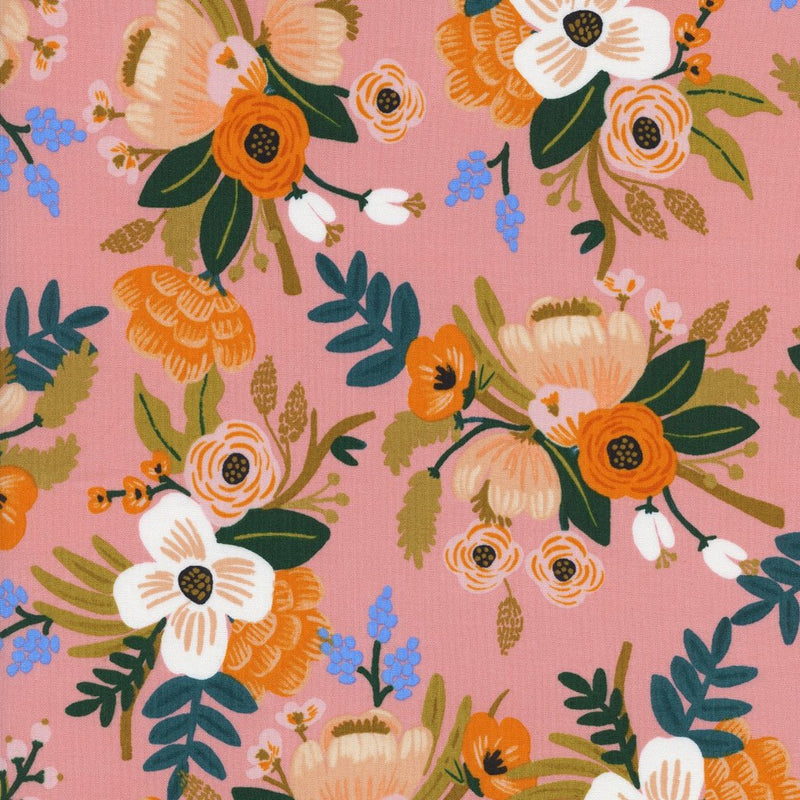 Amalfi - Rayon - Lively Floral in Coral