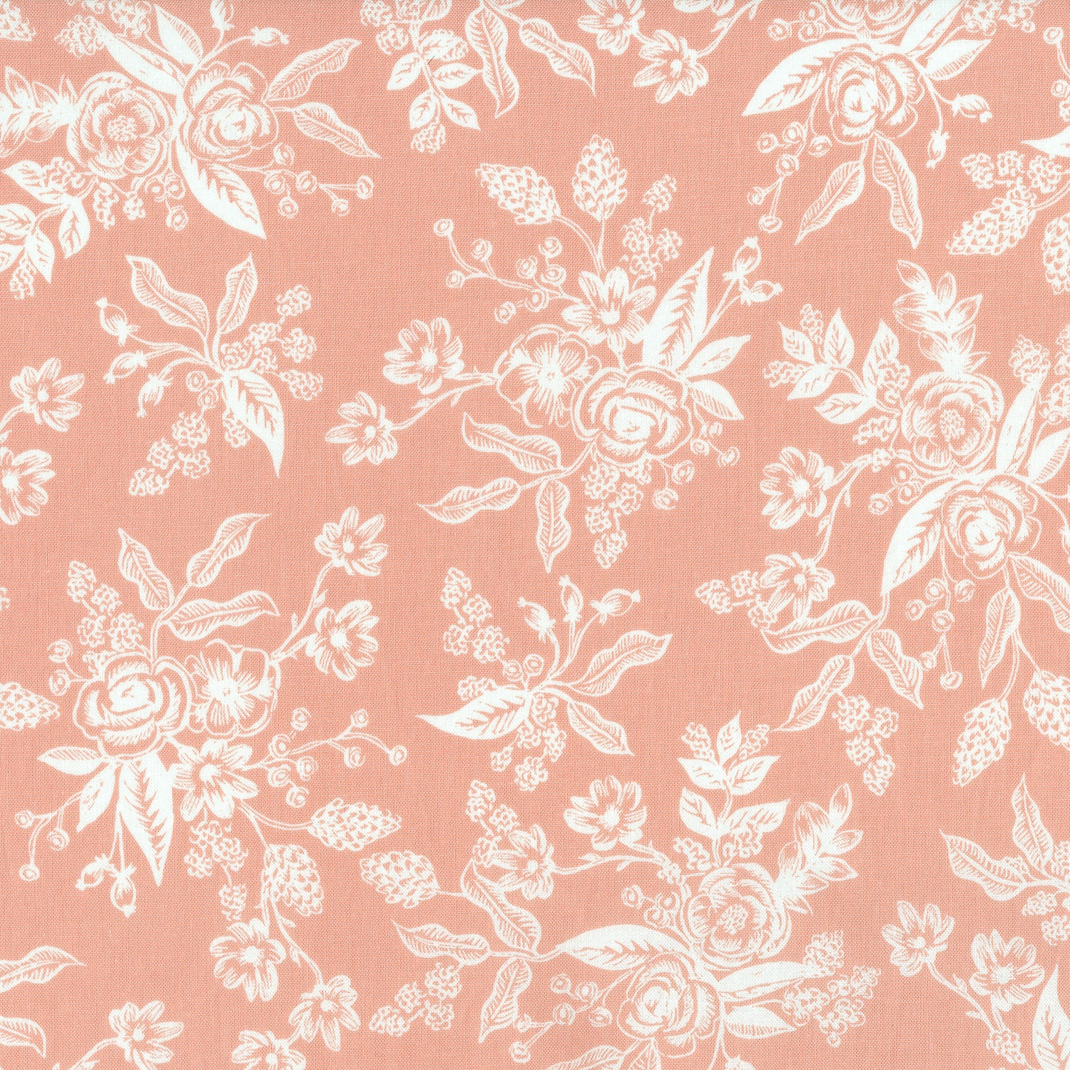 English Garden Toile In Peach Bijou Lovely