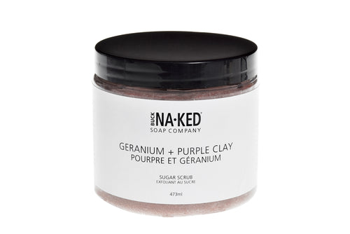 Geranium + Purple Clay Sugar Scrub