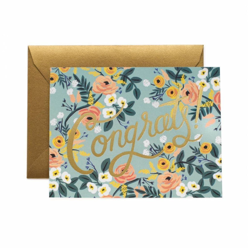 Blue Meadow Congrats Card