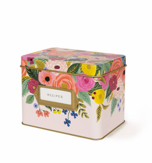 Juliet Rose Tin Recipe Box Set