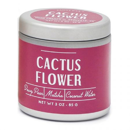 Cactus Flower- Tin Candle