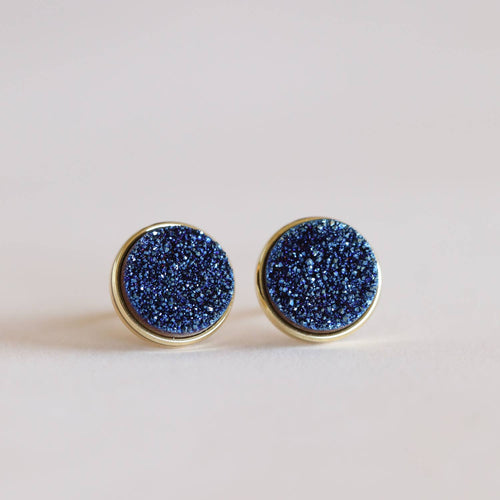 Druzy Clusters Earrings- Peacock