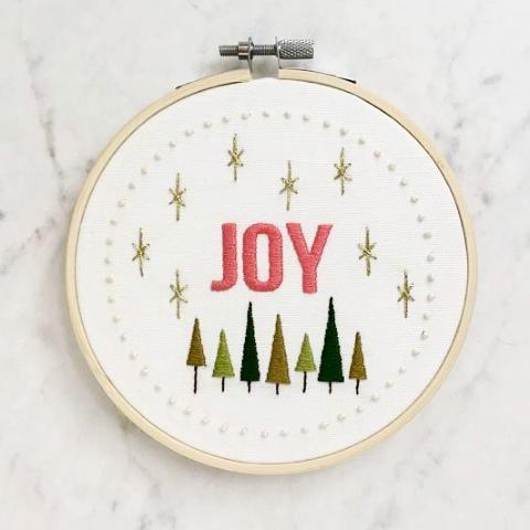 Christmas Embroidery Workshop - Thursday, Nov 30th from 6-8:30pm