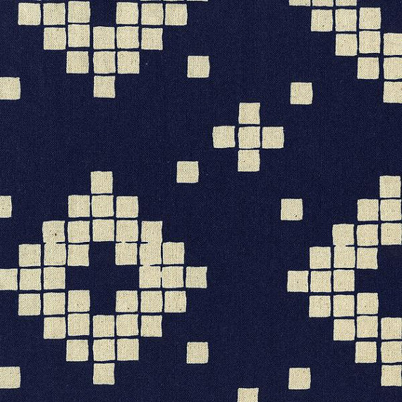 Mesa - Canvas - Tile in Indigo
