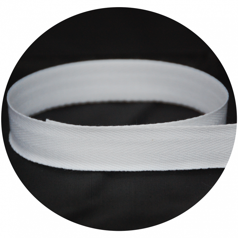 "3/8"" Twill Tape - White"