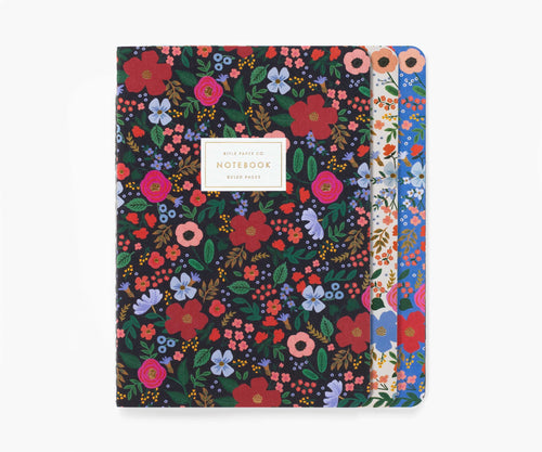 Wild Rose Stitched Notebooks - Set of 3