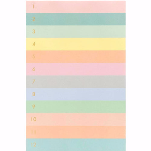 Numbered Colorblock Memo Notepad