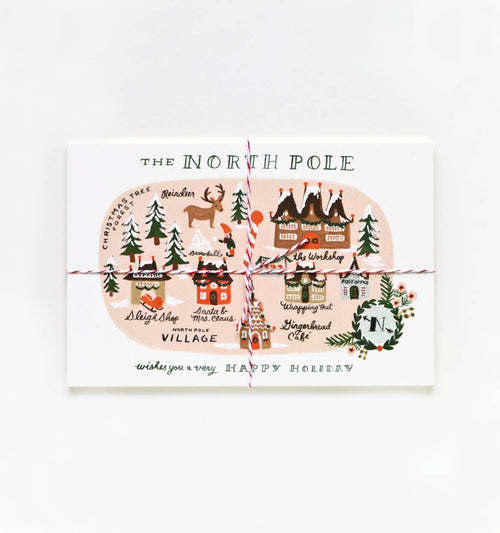 North Pole Map Postcards