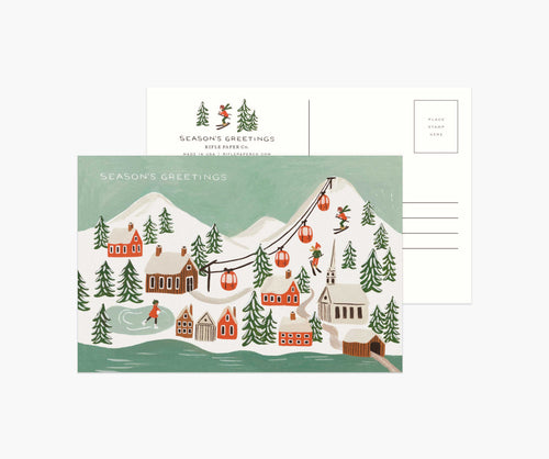 Holiday Snow Scene Postcards