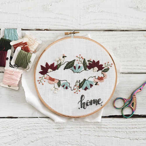 Home State Embroidery Workshop - Wednesday, Nov 1st from 6-8:30pm