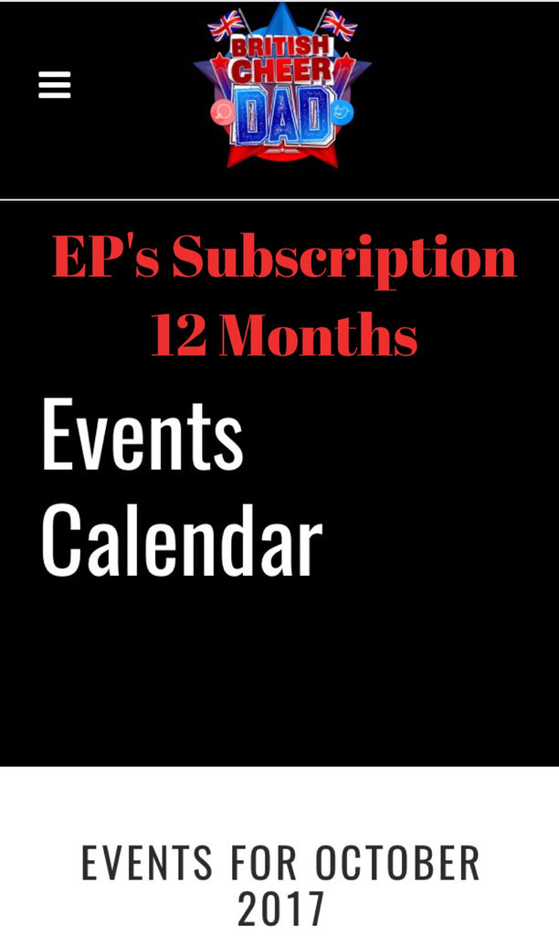 EP's 12 Month website Subscription