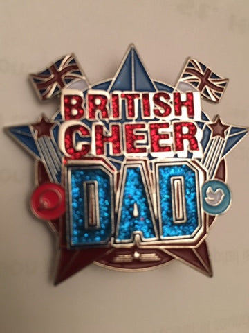 British Cheer Dad Pin